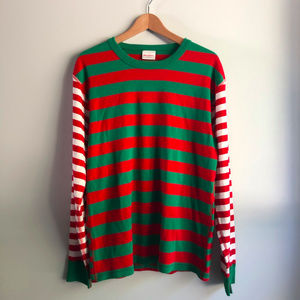 Hanna Andersson Holiday Striped PJ Top